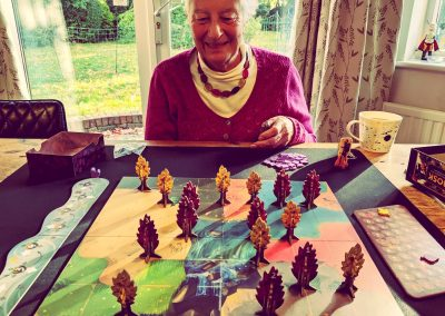 Playing Bosk with mum
