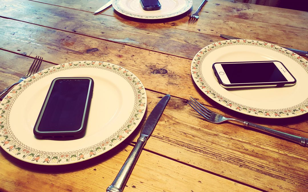 How to stop kids looking at their phones at the table
