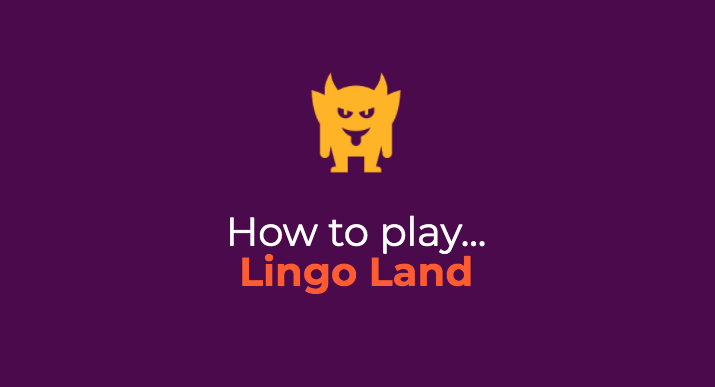 How to play Lingo Land