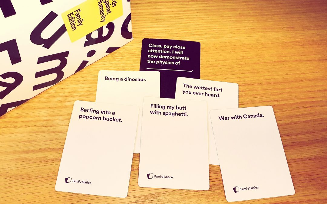 Alfie reviews… Cards Against Humanity Family Edition